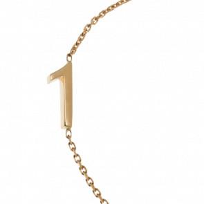 """Pulsera Número """"1"""" Oro Amarillo 18k"""