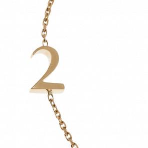 """Pulsera Número """"2"""" Oro Amarillo 18k"""