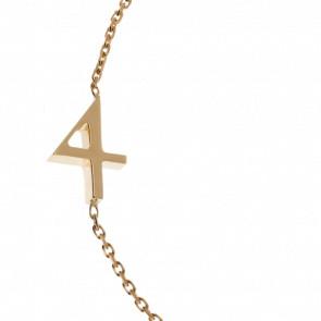 """Pulsera Número """"4"""" Oro Amarillo 18k"""