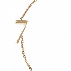 """Pulsera Número """"7"""" Oro Amarillo 18k"""