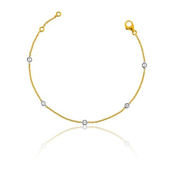 c3cfdcdbaf11 Pulsera de Oro Amarillo 18kt y 5 Diamantes de Allegoria - Ocarat