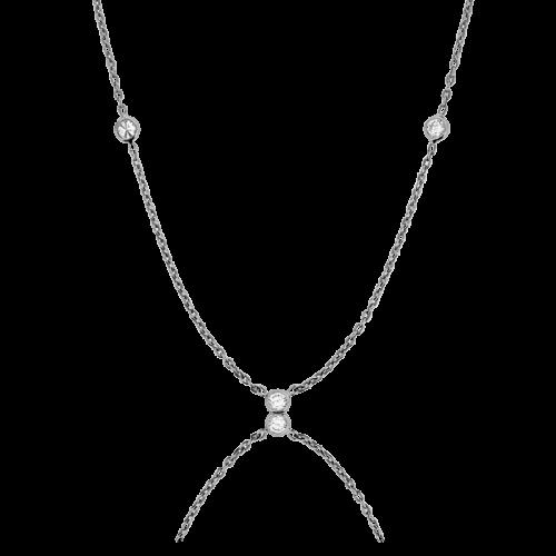 9169ca76786b Collar de oro blanco con diamantes chatón. - Ocarat